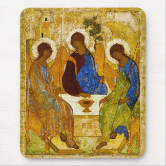 Andrei Rublev and icon of the Trinity Mouse Pad