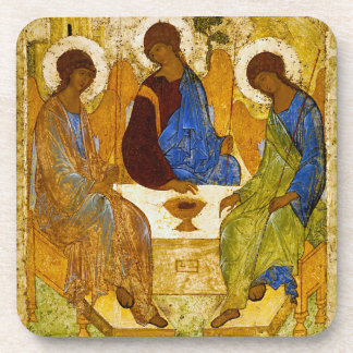 """Andrei Rublev, """"Holy Trinity"""" Beverage Coaster"""