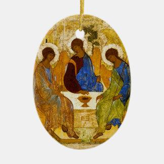 "Andrei Rublev, ""Holy Trinity"" Ceramic Ornament"