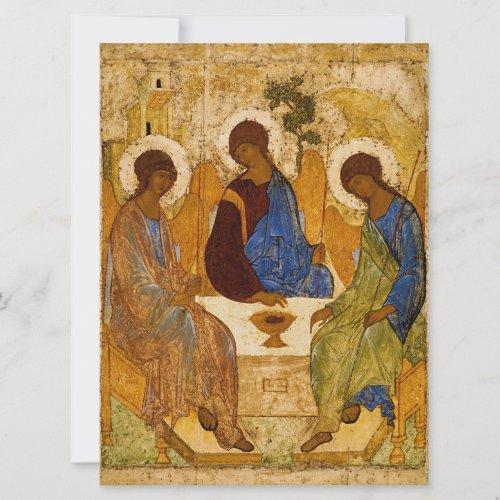Andrei Rublev Holy Trinity Icon Orthodox religion Card