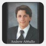 Andrew Abballo Calcomanías Cuadradass