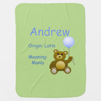 Andrew Baby Name Receiving Blanket