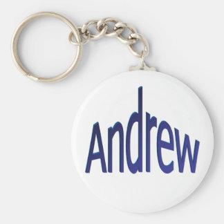 Andrew Basic Round Button Keychain