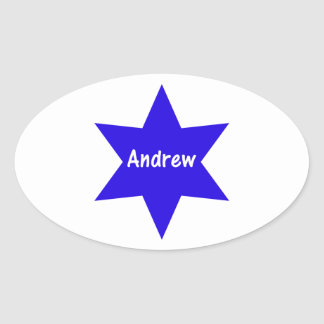Andrew (blue star) sticker