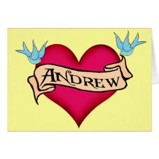 Andrew - camisetas y regalos de encargo del tarjeta de felicitación