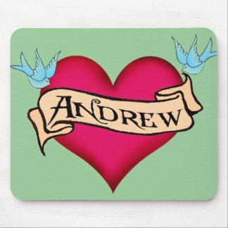 Andrew - camisetas y regalos de encargo del tatuaj tapetes de raton