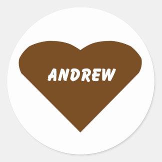 Andrew Classic Round Sticker