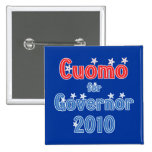 Andrew Cuomo for Governor 2010 Star Design Pinback Buttons