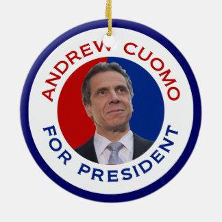 Andrew Cuomo For President Ceramic Ornament