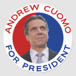 Andrew Cuomo For President Classic Round Sticker