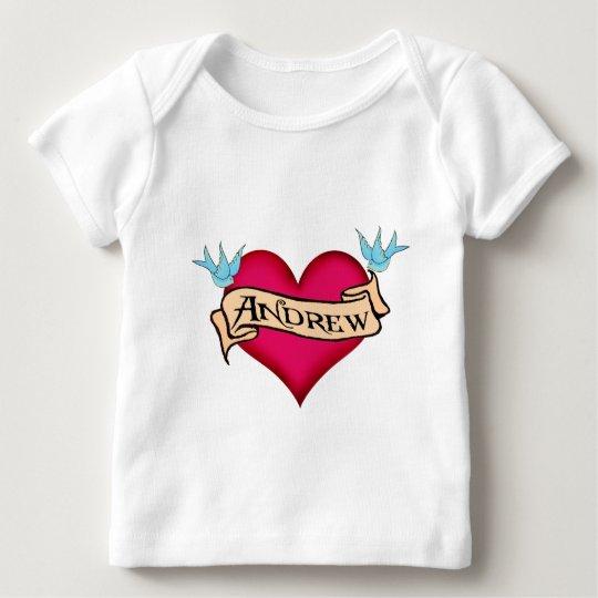 Andrew - Custom Heart Tattoo T-shirts & Gifts