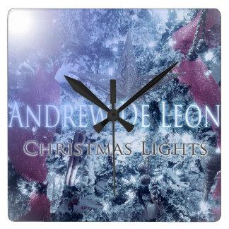Andrew De León - reloj de las luces de navidad