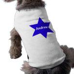 Andrew (estrella azul) camisa de perrito