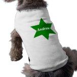 Andrew (estrella verde) ropa de perro