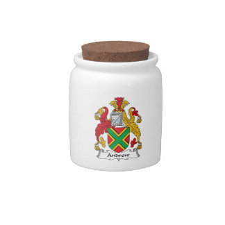 Andrew Family Crest Candy Jar