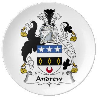 Andrew Family Crest Dinner Plate