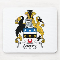 Andrew Family Crest Mousepad