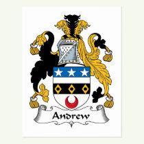 Andrew Family Crest Postcard