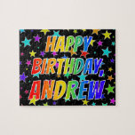"[ Thumbnail: ""Andrew"" First Name, Fun ""Happy Birthday"" Jigsaw Puzzle ]"