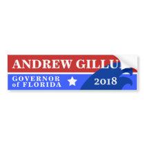 Andrew Gillum Governor of Florida | Blue Wave 2018 Bumper Sticker