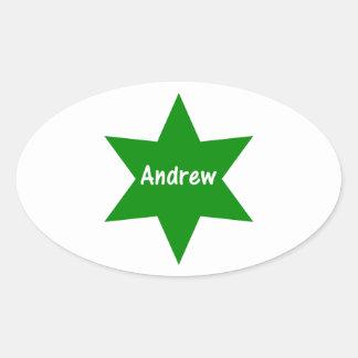 Andrew (green star) sticker