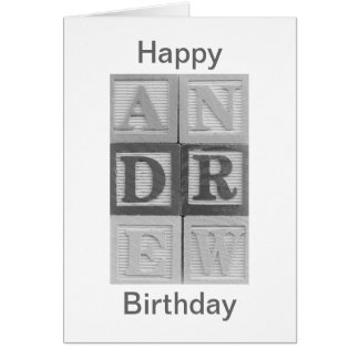 Andrew Happy Birthday Card