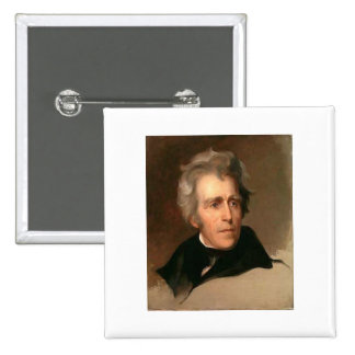 Andrew Jackson 2 Inch Square Button