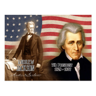 Andrew Jackson - 7th President of the U.S. Postcard
