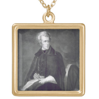 Andrew Jackson, 7th President of the United States Gold Plated Necklace