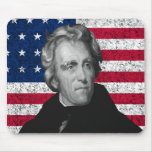 Andrew Jackson and The US Flag Mouse Pad