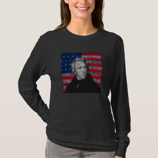 Andrew Jackson and The US Flag T-Shirt