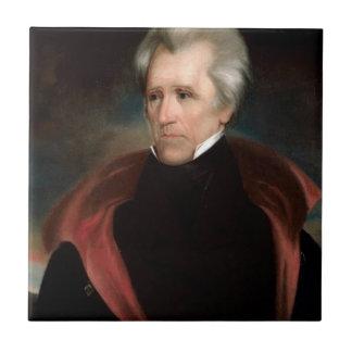 Andrew Jackson Azulejo Cuadrado Pequeño