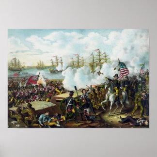 Andrew Jackson -- Batalla de New Orleans Póster