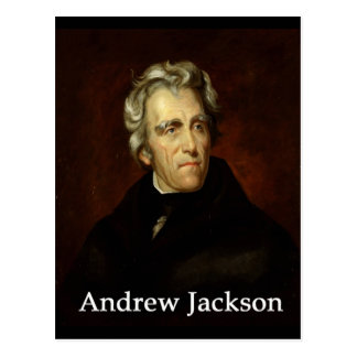 Andrew_Jackson by Sully public  with book antiqua Postcard