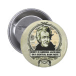 Andrew Jackson Central Bank Button Buttons