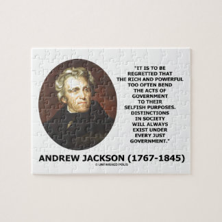 Andrew Jackson Distinctions Exist Under Just Gov't Jigsaw Puzzle