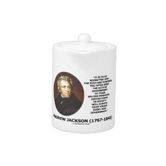 Andrew Jackson Distinctions Exist Under Just Gov't Teapot