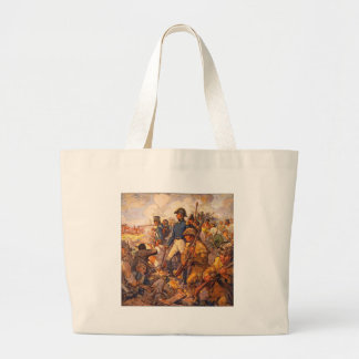 Andrew Jackson During the Battle of New Orleans Large Tote Bag
