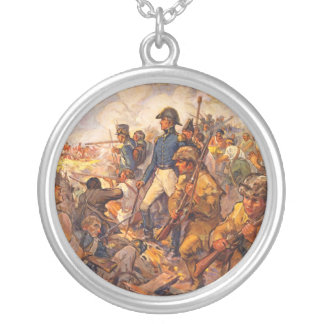 Andrew Jackson During the Battle of New Orleans Silver Plated Necklace