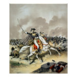 Andrew Jackson en la batalla de New Orleans Póster