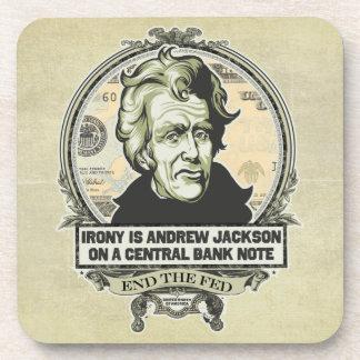 Andrew Jackson en un práctico de costa del corcho  Posavasos De Bebida