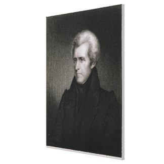 Andrew Jackson (engraving) Canvas Print