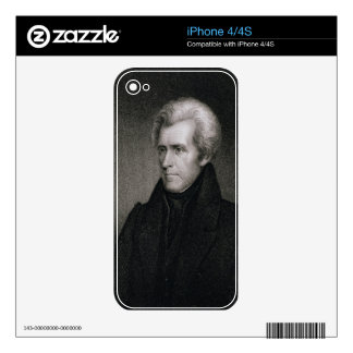 Andrew Jackson (engraving) Skins For The iPhone 4