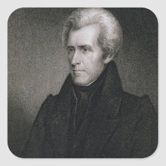 Andrew Jackson (engraving) Square Sticker