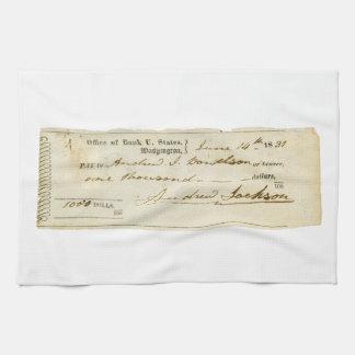 Andrew Jackson firmó el control a partir del 14 de Toallas De Cocina