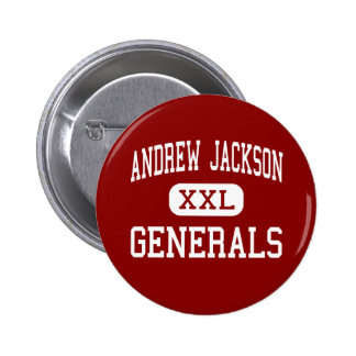 Andrew Jackson - Generals - Middle - Titusville Pinback Button