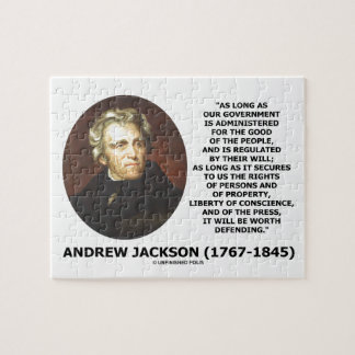 Andrew Jackson Government People Will Defending Jigsaw Puzzle