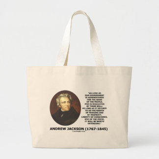 Andrew Jackson Government People Will Defending Large Tote Bag