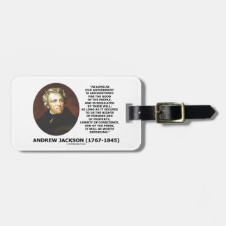 Andrew Jackson Government People Will Defending Luggage Tag