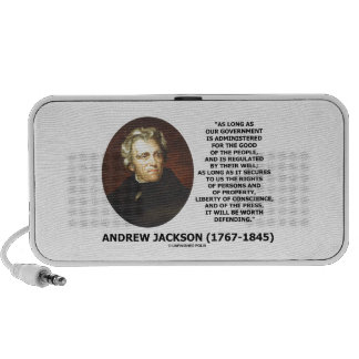 Andrew Jackson Government People Will Defending Portable Speaker